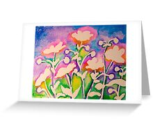 Pink Japanese Anemones Greeting Card