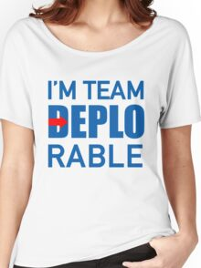 I'M TEAM DEPLORABLE Women's Relaxed Fit T-Shirt