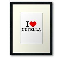 I love Nutella Framed Print