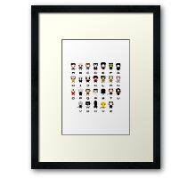 Horror Movies Alphabet Framed Print
