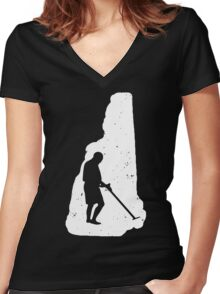 New Hampshire Youth Metal Detector Women's Fitted V-Neck T-Shirt