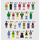 Superhero Alphabet 2 by Sergei Vozika