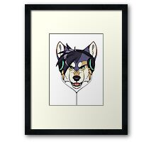 Headphone Wolf Framed Print