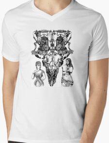 Skull and crossed phones Mens V-Neck T-Shirt