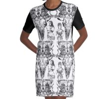 Skull and crossed phones Graphic T-Shirt Dress