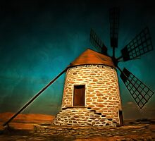 Windmill,  Tefia,  Fuerteventura, Canary Islands by Dennis Melling