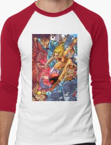 Thunder Cats Men's Baseball ¾ T-Shirt