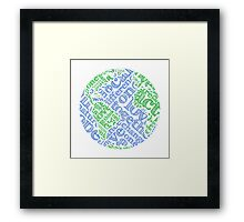 Earth Day: Love. Act. Change. Framed Print