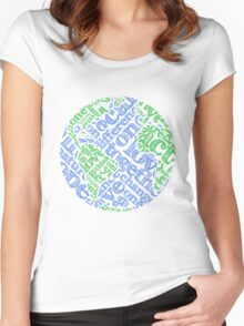 Earth Day: Love. Act. Change. Women's Fitted Scoop T-Shirt