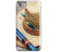 Straw Hat with rods iPhone Case/Skin