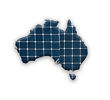 Map of Australia with photovoltaic solar panels.  Photographic Print
