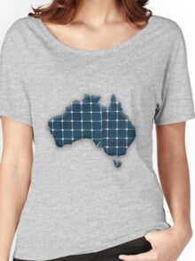 Map of Australia with photovoltaic solar panels.  Women's Relaxed Fit T-Shirt
