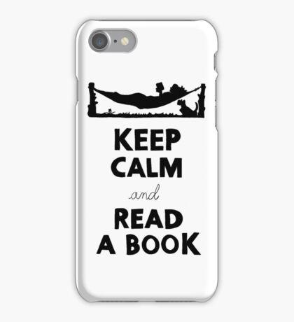 KEEP CALM AND READ A BOOK iPhone Case/Skin
