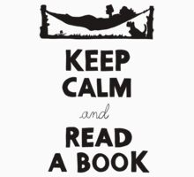 KEEP CALM AND READ A BOOK Baby Tee