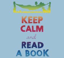 KEEP CALM AND READ A BOOK (RAINBOW) Kids Tee