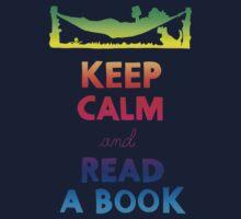 KEEP CALM AND READ A BOOK (RAINBOW) Kids Clothes