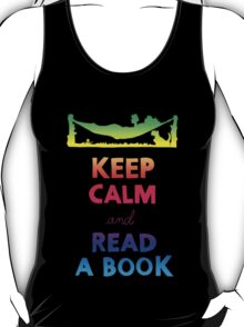 KEEP CALM AND READ A BOOK (RAINBOW) T-Shirt