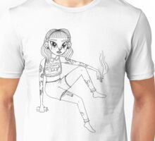 Melanie Drawing Lineart Unisex T-Shirt