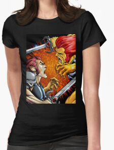 Battle of the Lion Womens Fitted T-Shirt