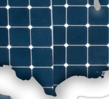 Map of the USA with photovoltaic solar panels.  Sticker