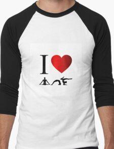 I love yoga and meditation  Men's Baseball ¾ T-Shirt