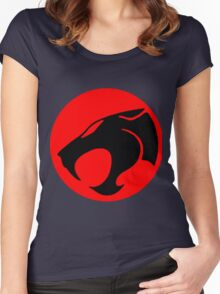 Logo Thundercats Women's Fitted Scoop T-Shirt