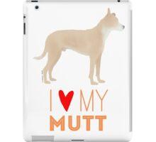 Mutt Love: Tan and White iPad Case/Skin