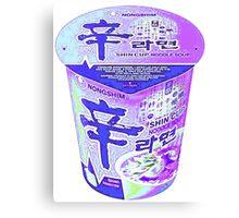 Purple Korean Shin Cup Ramen Canvas Print