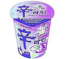 Purple Korean Shin Cup Ramen Photographic Print