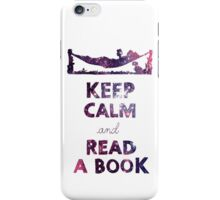 KEEP CALM AND READ A BOOK (Space) iPhone Case/Skin