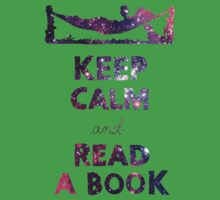 KEEP CALM AND READ A BOOK (Space) Kids Clothes