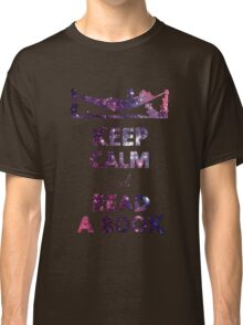KEEP CALM AND READ A BOOK (Space) Classic T-Shirt
