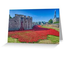 Poppies in the Moat 2 Greeting Card