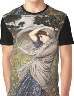 John William Waterhouse - Boreas  Graphic T-Shirt