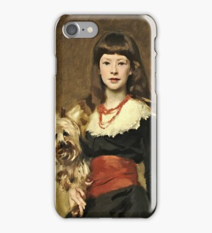 John Singer Sargent - Miss Beatrice Townsend 1882  iPhone Case/Skin