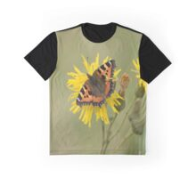 Small Tortoiseshell (Aglais urticae) on a Dandelion Graphic T-Shirt