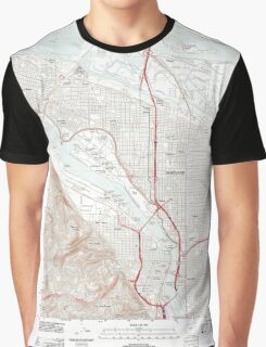 USGS Topo Map Oregon Portland 20110901 TM Graphic T-Shirt