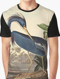 John James Audubon - Louisiana Heron1834  Graphic T-Shirt