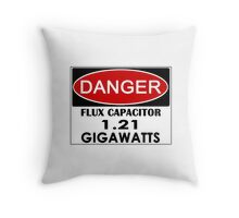Flux Capacitor - 1.21 Gigawatts Warning Throw Pillow
