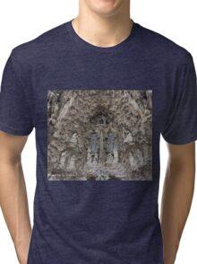Facade de la nativite Tri-blend T-Shirt
