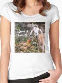 Always Hungry - hungry lil' goat  Women's Fitted Scoop T-Shirt