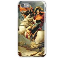 Jacques-Louis David - Napoleon Crossing The Alps  iPhone Case/Skin