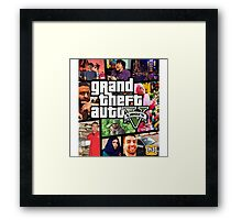 Grand Theft Auto - h3h3 Framed Print