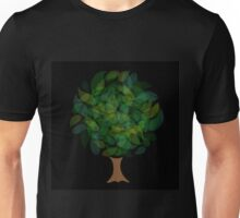 Tree with leaves in shades of green Unisex T-Shirt
