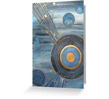 20's style celestial painting Greeting Card