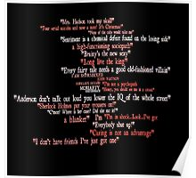Sherlock Holmes Quote Wordbubble Poster