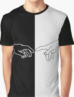 Hands showing the creation of Adam Graphic T-Shirt