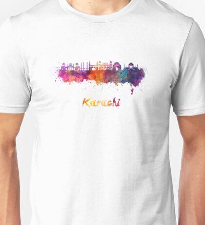 Karachi skyline in watercolor Unisex T-Shirt