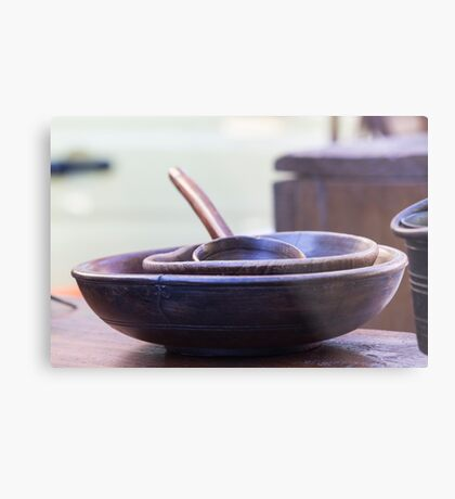 old wooden bowl Metal Print