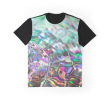 Colorful background with ripples and drops Graphic T-Shirt